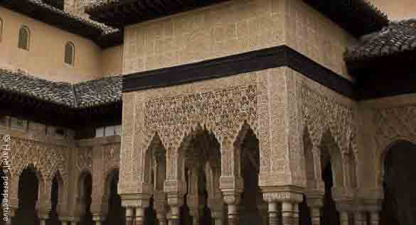 lions court alhambra spain